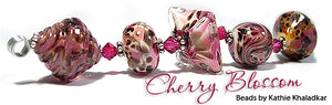 Cherry Blossom Frit blend by Glass Diversions - beads by Kathie Khaladkar