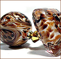 Load image into Gallery viewer, Glass Diversions Coffee Bean frit blend - Beads by Kathie Khaladkar