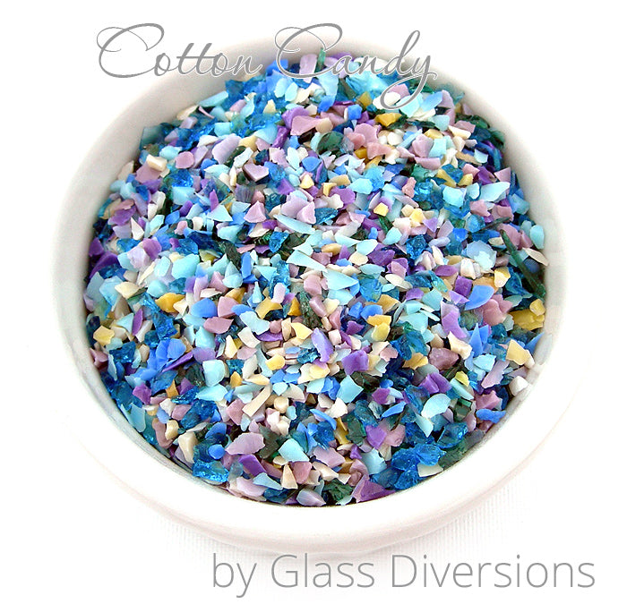 Cotton Candy frit blend by Glass Diversions