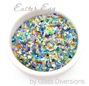 Easter Egg frit blend by Glass Diversions