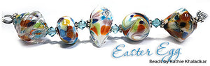 Easter Egg frit blend by Glass Diversions - beads by Kathie Khaladkar