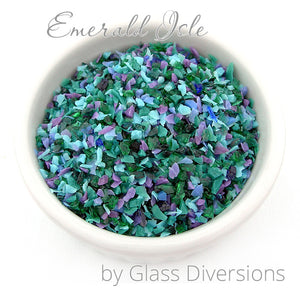 Emerald Isle frit blend by Glass Diversions