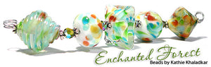 Enchanted Forest frit blend by Glass Diversions - beads by Kathie Khaladkar