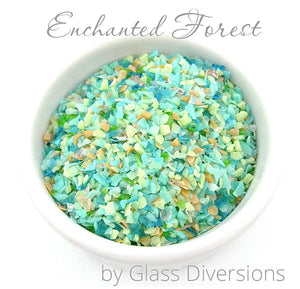 Enchanted Forest frit blend by Glass Diversions