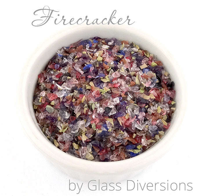 Firecracker frit blend by Glass Diversions