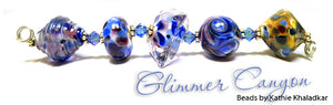 Glimmer Canyon frit blend by Glass Diversions - beads by Kathie Khaladkar