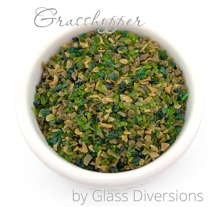 Grasshopper frit blend by Glass Diversions