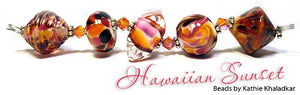 Hawaiian Sunset frit blend by Glass Diversions - beads by Kathie Khaladkar