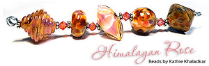 Himalayan Rose frit blend by Glass Diversions - beads by Kathie Khaladkar