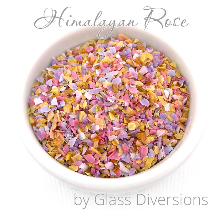Himalayan Rose frit blend by Glass Diversions