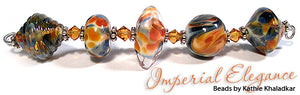Imperial Elegance frit blend by Glass Diversions - beads by Kathie Khaladkar