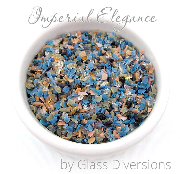 Imperial Elegance frit blend by Glass Diversions