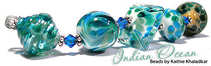 Indian Ocean frit blend by Glass Diversions - beads by Kathie Khaladkar