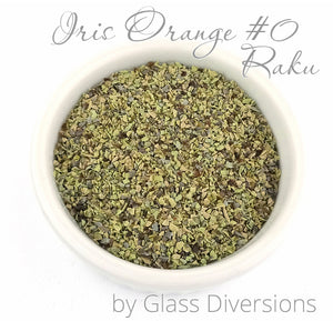 Iris Orange Raku Frit by Glass Diversions
