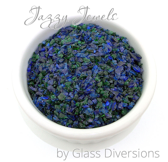 Jazzy Jewels frit blend by Glass Diversions