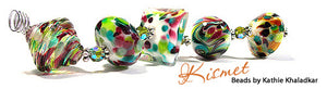 Kismet frit blend by Glass Diversions - beads by Kathie Khaladkar