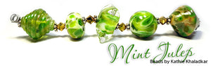 Mint Julep frit blend by Glass Diversions - beads by Kathie Khaladkar