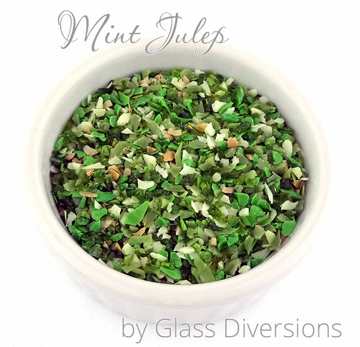 Mint Julep frit blend by Glass Diversions