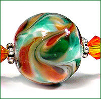 Load image into Gallery viewer, Mint Majesty frit blend by Glass Diversions - beads by Kathie Khaladkar