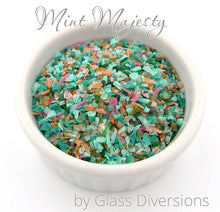 Load image into Gallery viewer, Mint Majesty frit blend by Glass Diversions