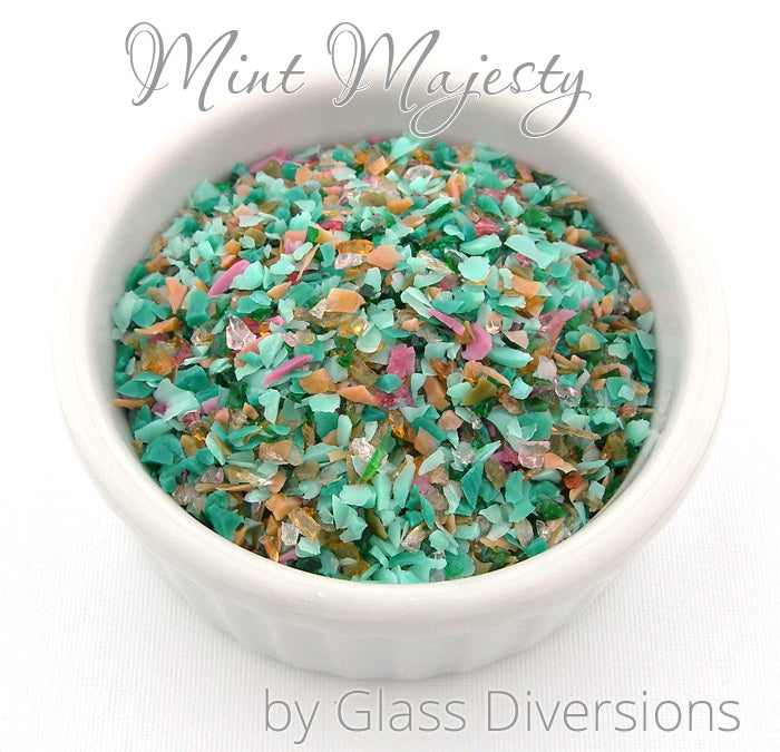 Mint Majesty frit blend by Glass Diversions