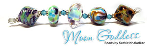 Moon Goddess frit blend by Glass Diversions - beads by Kathie Khaladkar