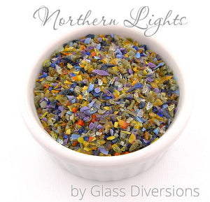 Northern Lights frit blend by Glass Diversions