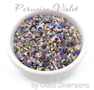 Peruvian Violet frit blend by Glass Diversions