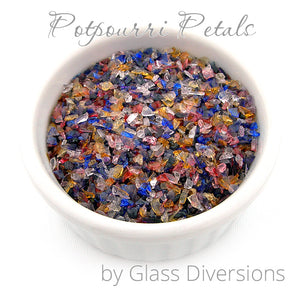 Potpourri Petals frit blend by Glass Diversions