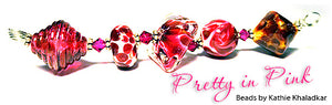 Pretty in Pink frit blend by Glass Diversions - beads by Kathie Khaladkar
