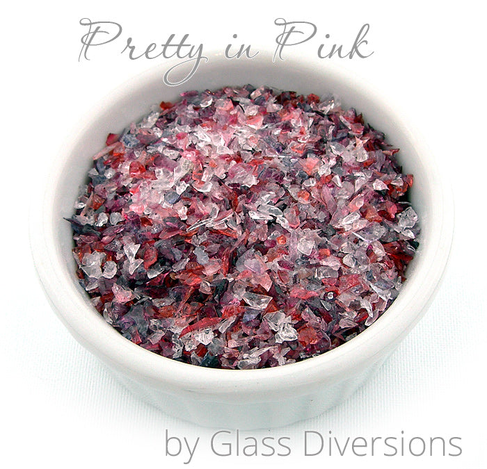 Pretty in Pink frit blend by Glass Diversions