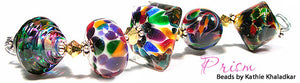 Prism frit blend by Glass Diversions - beads by Kathie Khaladkar