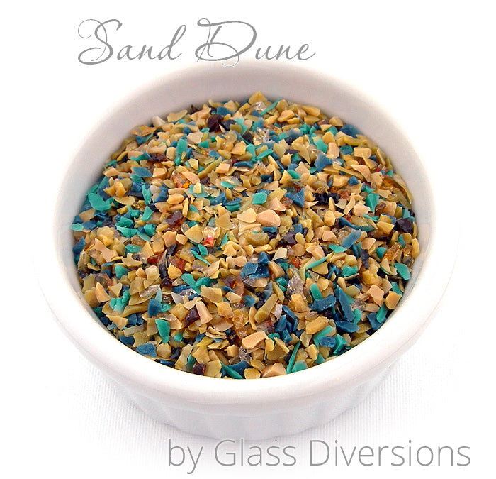 Sand Dune frit blend by Glass Diversions