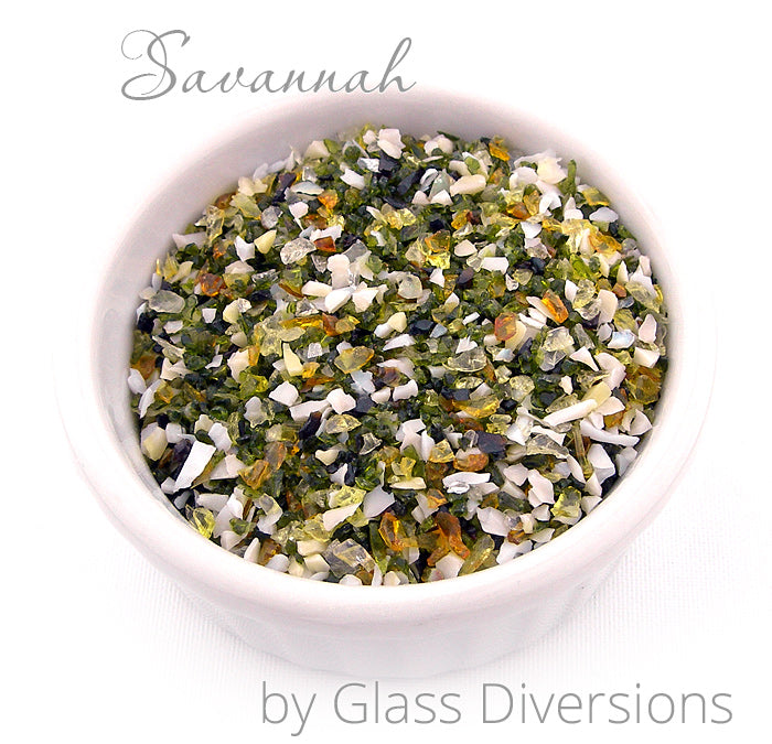 Savannah frit blend by Glass Diversions