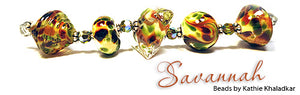 Savannah frit blend by Glass Diversions - beads by Kathie Khaladkar