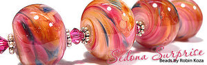 Sedona Surprise by Glass Diversions - beads by Robin Koza