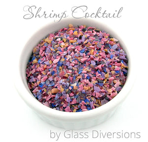 Shrimp Cocktail frit blend by Glass Diversions