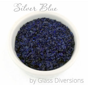 Silver Blue frit by Glass Diversions