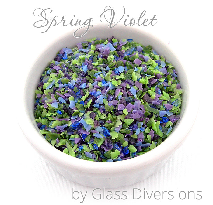 Spring Violet frit blend by Glass Diversions
