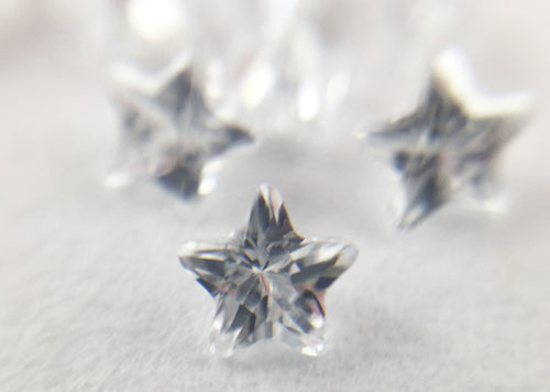 White Star shaped CZs by Glass Diversions