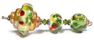 Sunflower frit blend by Glass Diversions - beads by Kathie Khaladkar