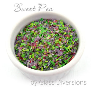 Sweet Pea frit blend by Glass Diversions