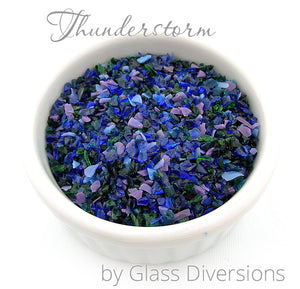 Thunderstorm frit blend by Glass Diversions
