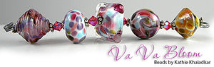 Va Va Bloom frit blend by Glass Diversions - beads by Kathie Khaladkar