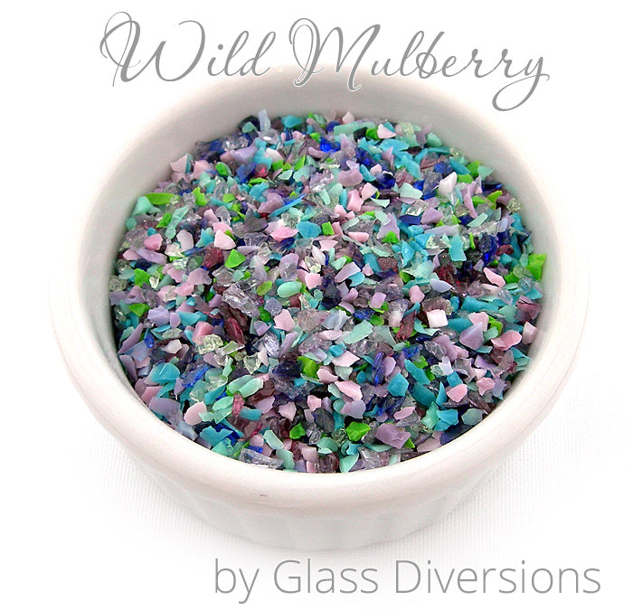 Wild Mulberry frit blend by Glass Diversions