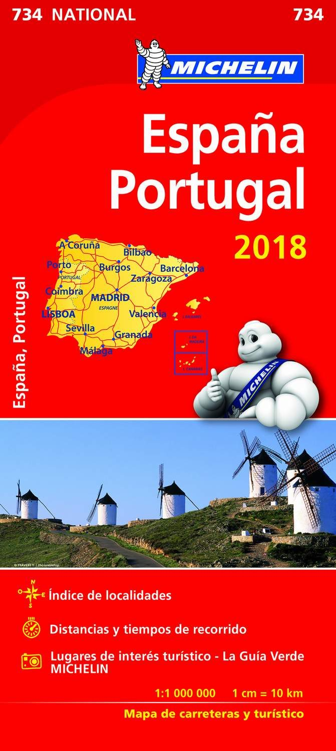 Michelin Desplegable España y Portugal