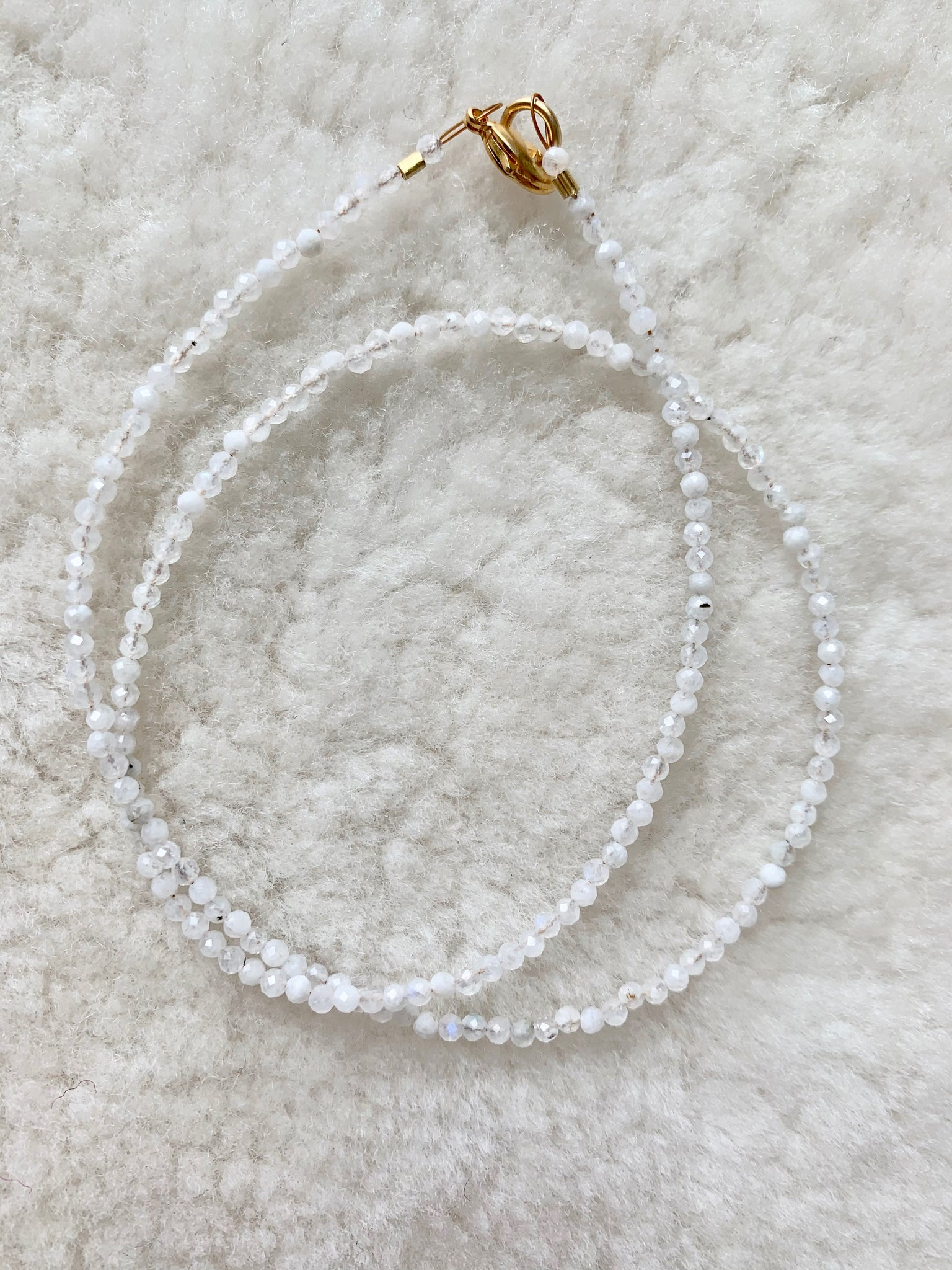 moonstone choker necklace | radiant malas | handmade in Boulder Colorado