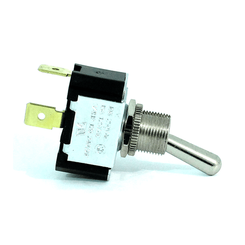 SPST OFF-ON Chrome Bat Toggle Switch by Carling Technologies