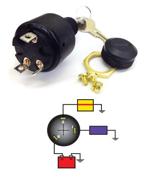 3x Ignition Switch Short Stem ( OFF-RUN-START )