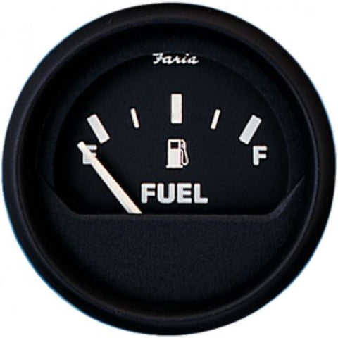 Euro Black Fuel Level Gauge